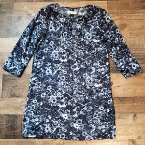 S Abercrombie & Fitch Blue Floral Dress